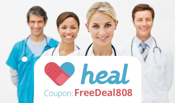 Heal Coupon Code FREEDEAL808: $50 off Heal APP