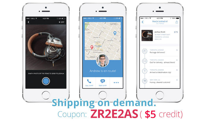 Shyp Promo Code: Use ZR2E2AS for $5 off Shyp's on-demand shipping app!
