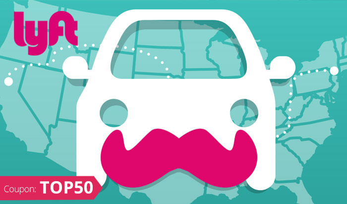 Lyft Promo Code 50 Free Rides with coupon code TOP50