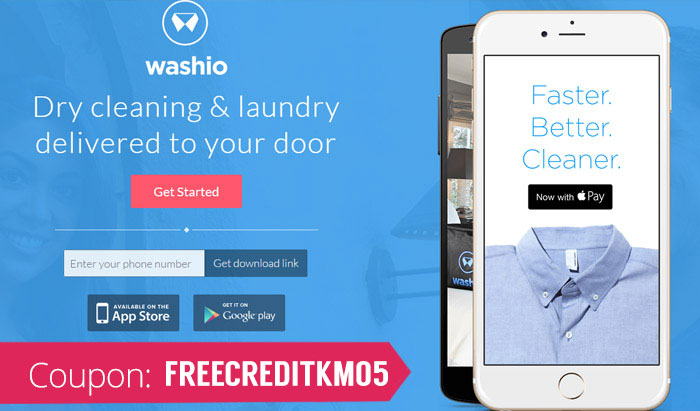Get Washio Coupon Code: Use promo code CGRIM210 for $10 off your first Uber for Laundry experience
