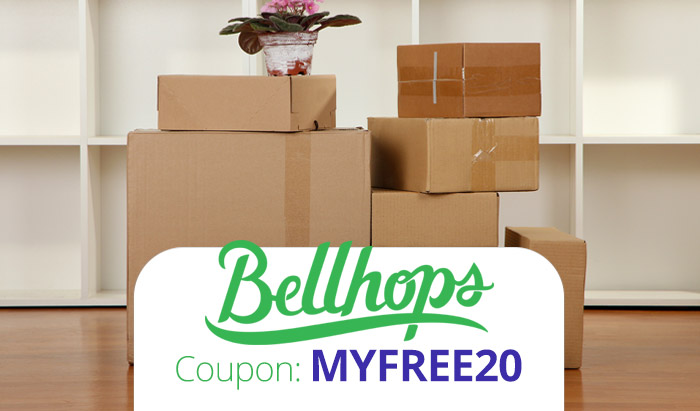 Bellhops Promo Code : Use coupon MYFREE20 for $20 off movers