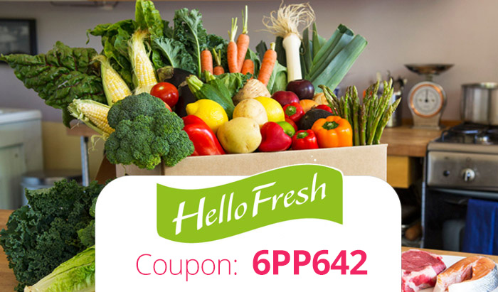 HelloFresh Promo Code: Use coupon 6PP642 for $40 off your meal delivery