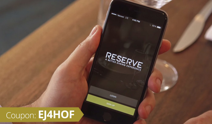 Reserve Promo Code: Use coupon EJ4HOF for $20 off your dining on-demand on the Reserve App!