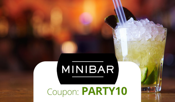 Minibar Promo Code: Use coupon PARTY10 for $10 off on-demand alcohol delivery!