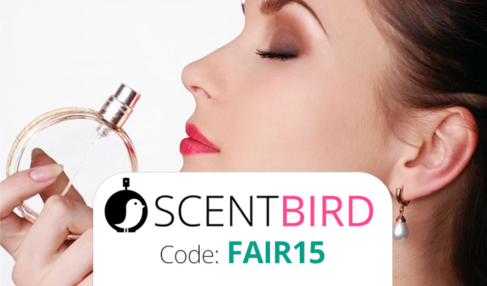 Scentbird Coupon Code : Use promo FAIR15 for 15% off your monthly perfume subscription