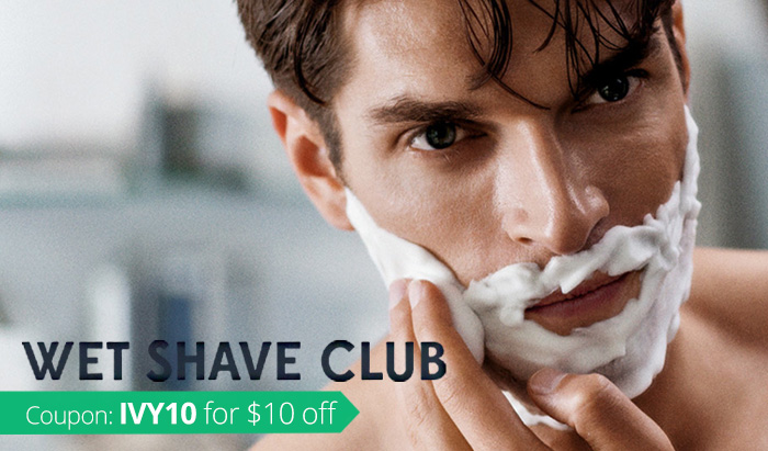Wet Shave Club Review and Wet Shave Club Coupon IVY10 for $10 off!