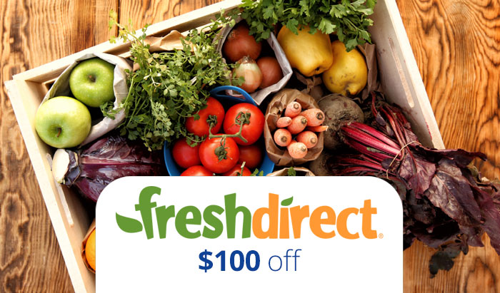 Fresh Direct Promo Code 2016 : Get $100 OFF