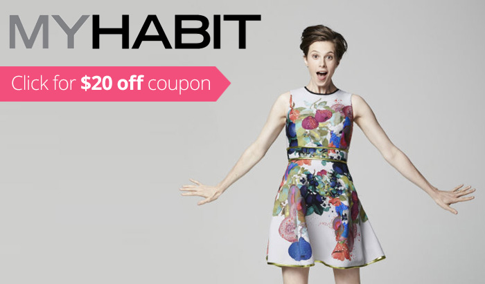MyHabit Coupon Code 2016 & 2015 : Get $20 off and free shipping