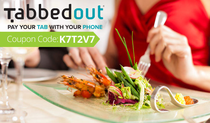 Tabbed Out Promo Code: Use coupon K7T2V7 for $5 off