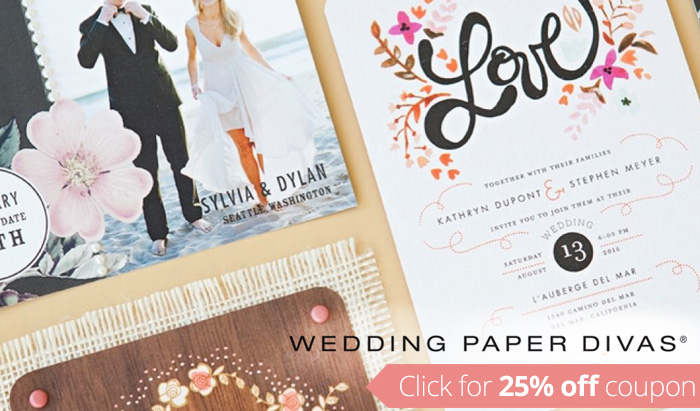 Wedding Paper Divas Coupon Code : Get 25% off your order!