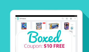 Boxed Wholesale: Get $10 free with Boxed promo code