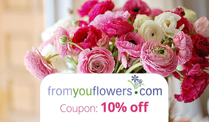 Discount coupons from you flowers