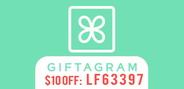 Use Giftagram Promo Code LF63397 to get $10 off