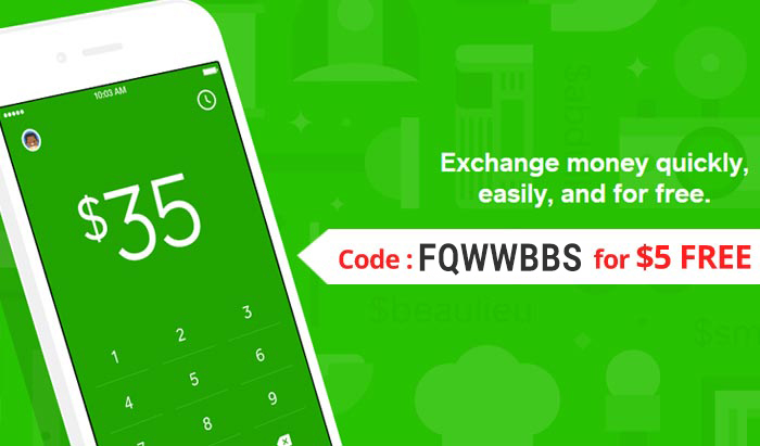 Square Cash Review & Promo : Use coupon code FQWWBBS for $5 FREE on the Cash app