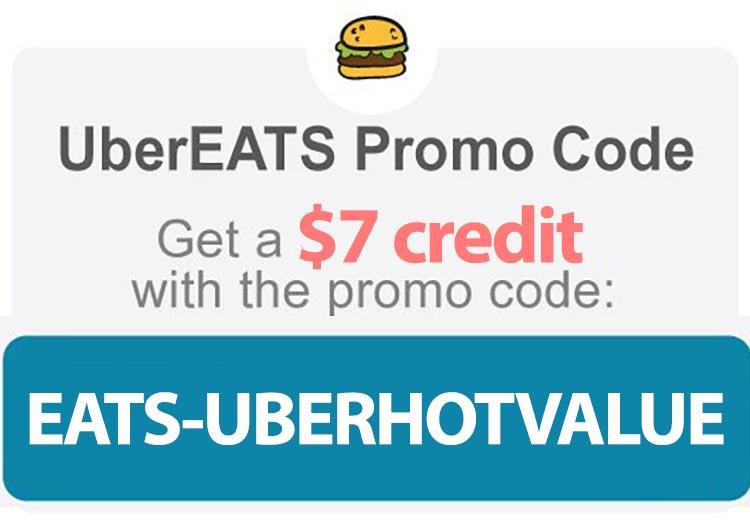 Uber Eats Promo Code: EATS-UBERHOTVALUE' for a $20 discount.