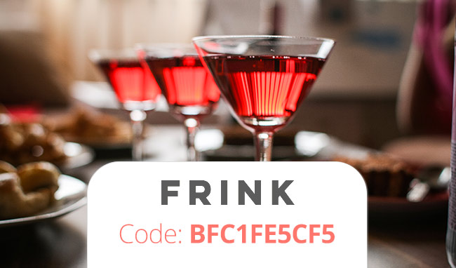 Frink Promo Code: Get a Free trial month of free drinks with coupon code: BFC1FE5CF5
