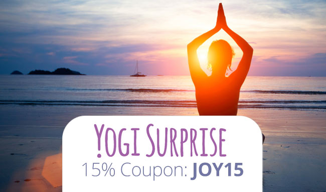 Yogi Surprise Coupon Code: Use promo JOY15 for 15% off your yoga subscription order!