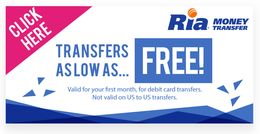 Ria Money Transfer Promo Code