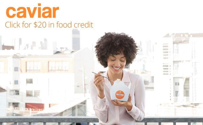 TryCaviar Coupon: Get $20 food credit with this Try Caviar Coupon