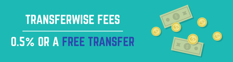 Transferwise Fee: Transfer pricing at only 0.5%