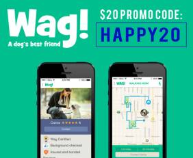 Wag Promo Code: Get $20 with code HAPPY20 plus read our Wag Dog Walking Review