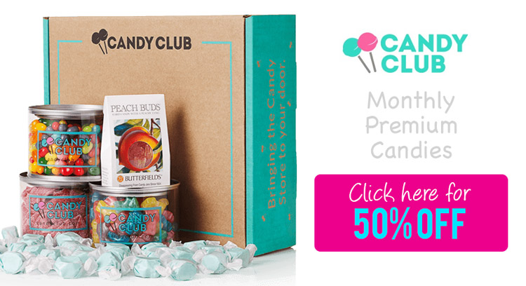 Get a 50% Candy Club Promo Code plus read our Candy Club Review!