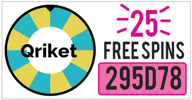 Qriket Referral Code Use Promo Code 295d78 For 25 Free Qriket Spins