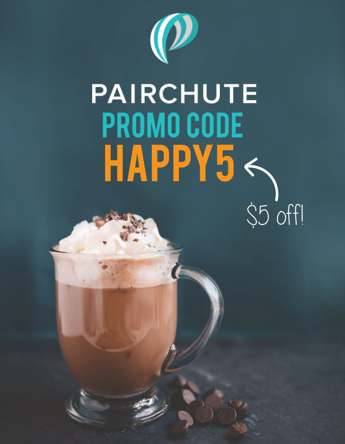 Pairchute access code: Get $5 off with the Pairchute app promo code HAPPY5