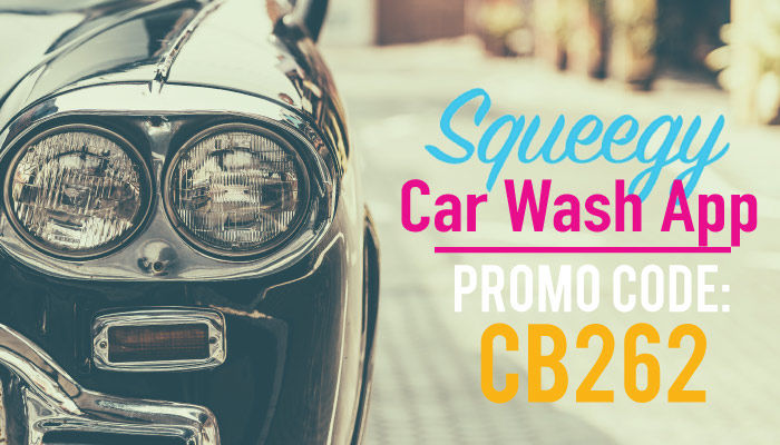 Squeegy Promo Code: Use CB262 for $10 off the Squeegy Car Wash App