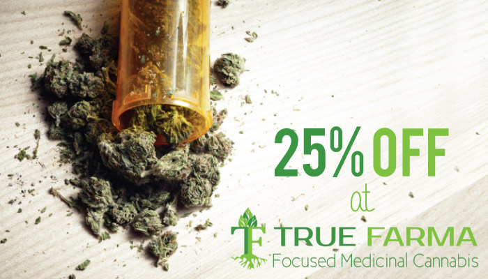 What is TrueFarma? It's a medical cannabis marketplace. Get 25% off your first order with our TrueFarma Promo Code