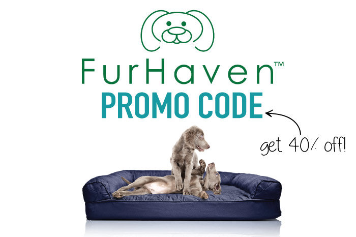 Furhaven Promo Code: Get 40% off a sofa dog bed with our Furhaven coupon code link!