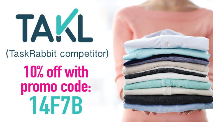 Takl Promo Code 2017: Use the code 14F7B on Takl, our fave of the TaskRabbit Competitors