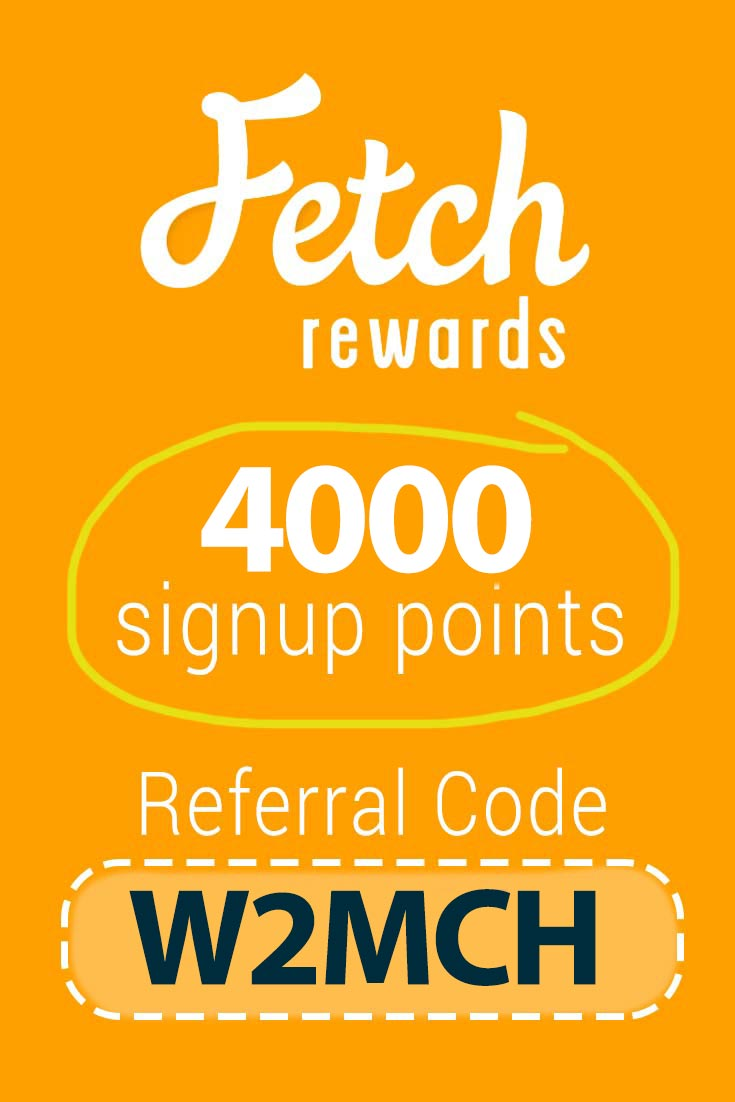 Fetch Rewards Referral Code: Get 2000 points free with code W2MCH