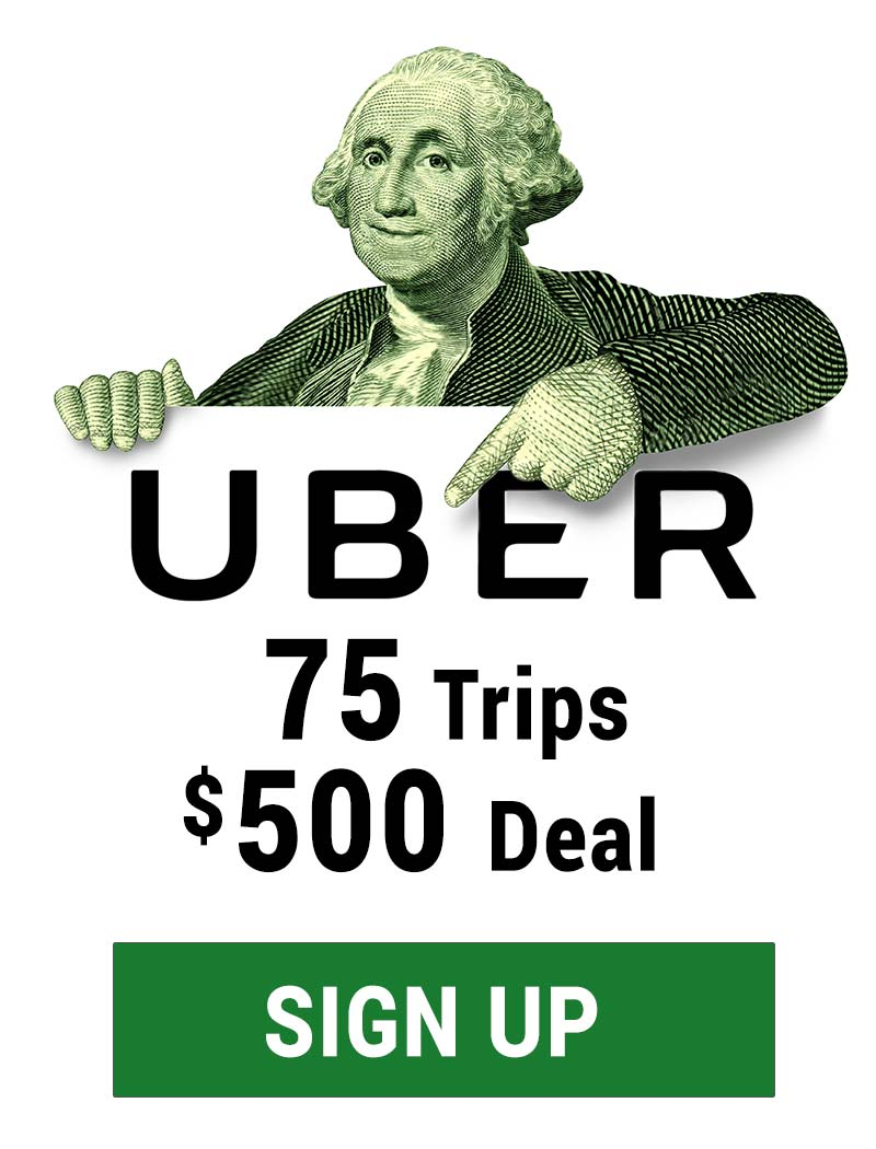Uber 75 Trips $500 deal : Sign up with code hbx1arsque