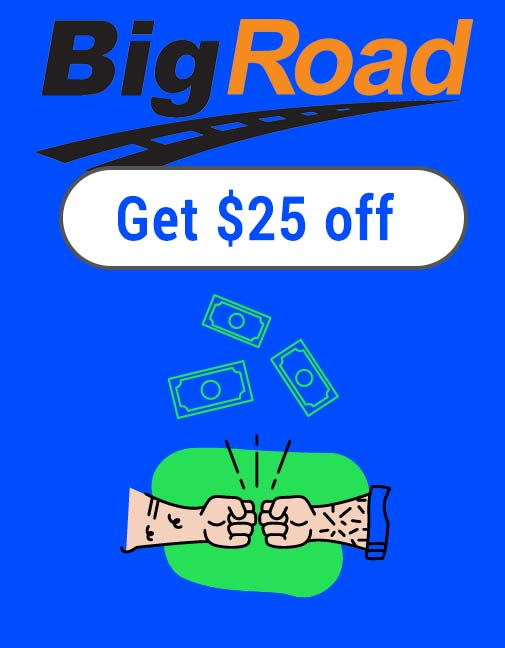 BigRoad Promo Code: Get $25 off with this coupon code link!