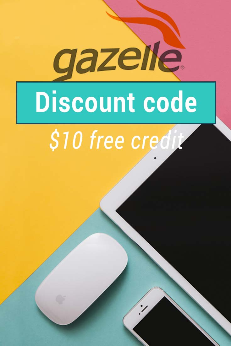 Gazelle coupon code