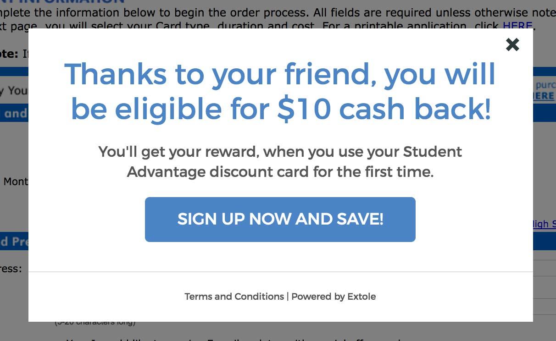 Student Advantage Discount Code: Get $10 free cash