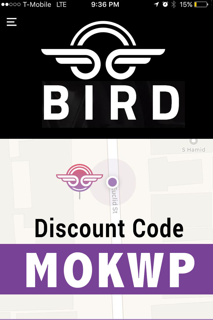 Bird App Promo Code: Get $5 free with the Bird Scooter App Invite Code MOKWP