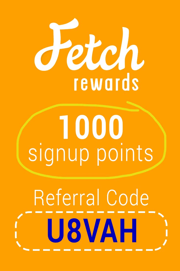 Fetch Rewards Referral Code: Get 1000 points free with code U8VAH