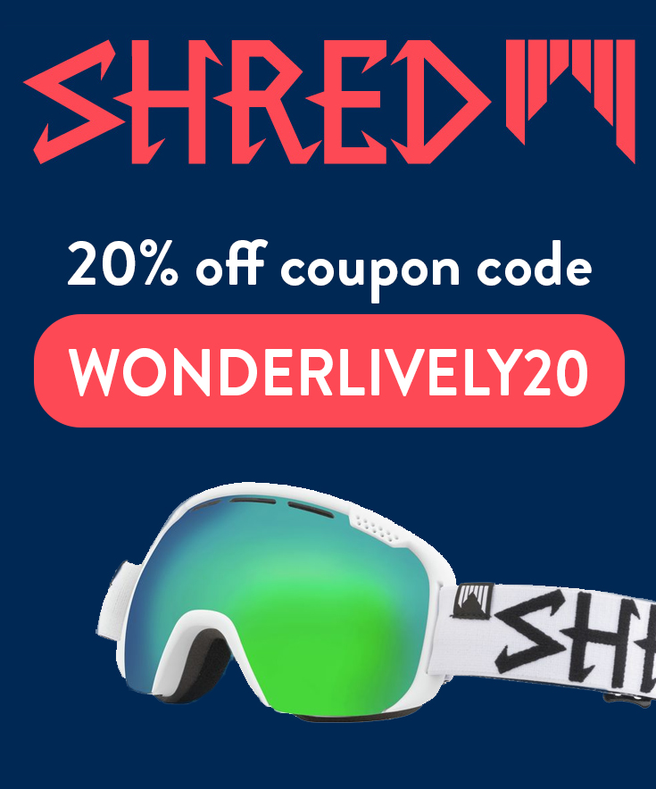 Shred Optics Discount Code: 20% off with code WONDERLIVELY20