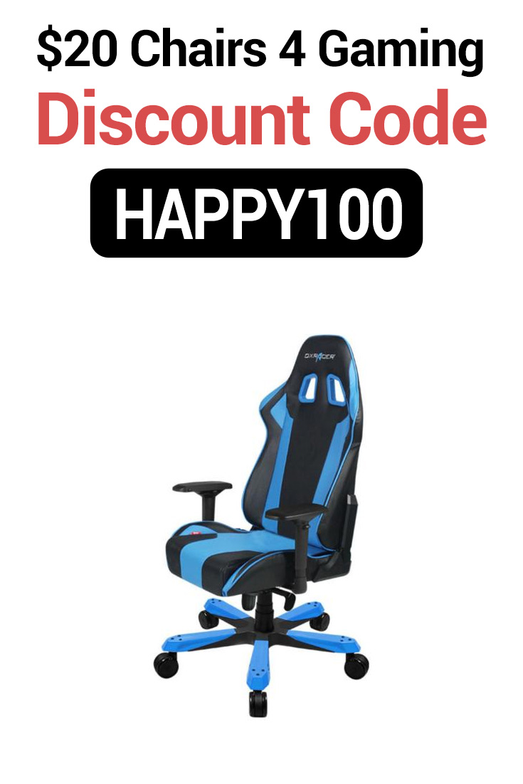 Chairs4Gaming Discount Codes: $20 Off with code HAPPY100