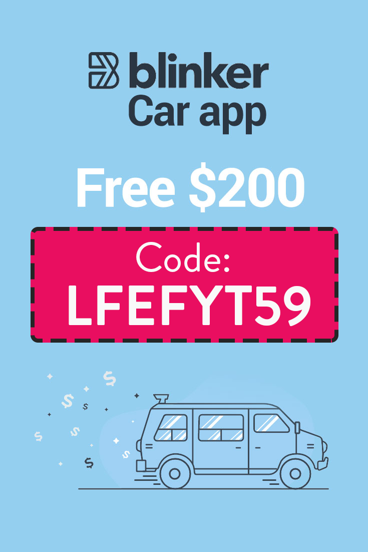 Blinker Car App Promo Code | Get $200 free with code LFEFYT59