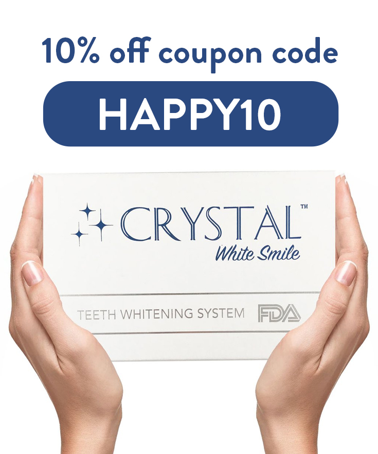 10% Crystal White Smile Discount Code : HAPPY10