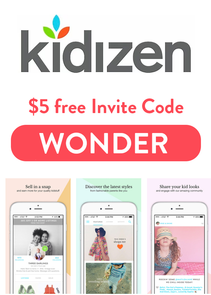 Kidizen Invite Code | Get $5 free with the referral code: WONDER
