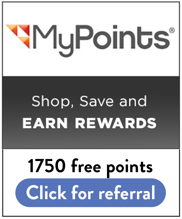 MyPoints Sign Up Bonus: Use this link for 1750 free sign up points!