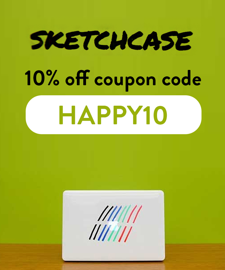 SketchCase Discount Code: Get 10% off with code HAPPY10