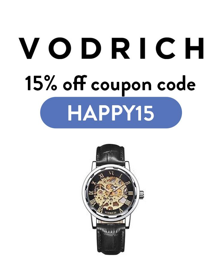 Vodrich Discount Code: Get 15% off with code HAPPY15
