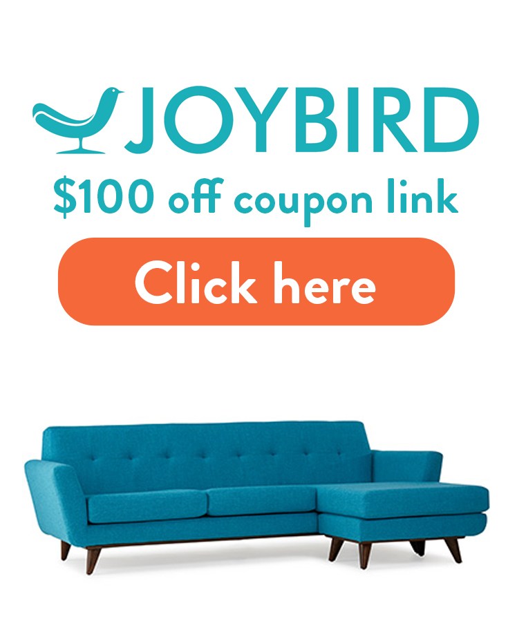 Joybird Coupon Code: How to get $100 in free credit