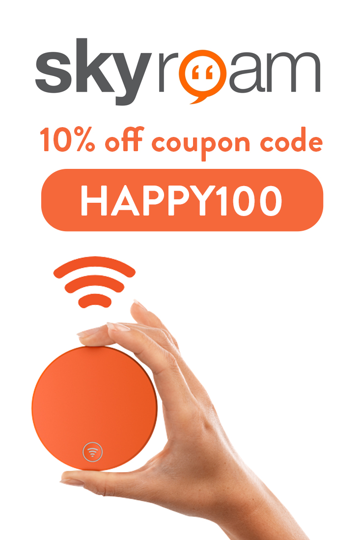 Skyroam Discount Code: Get 10% off with code HAPPY100