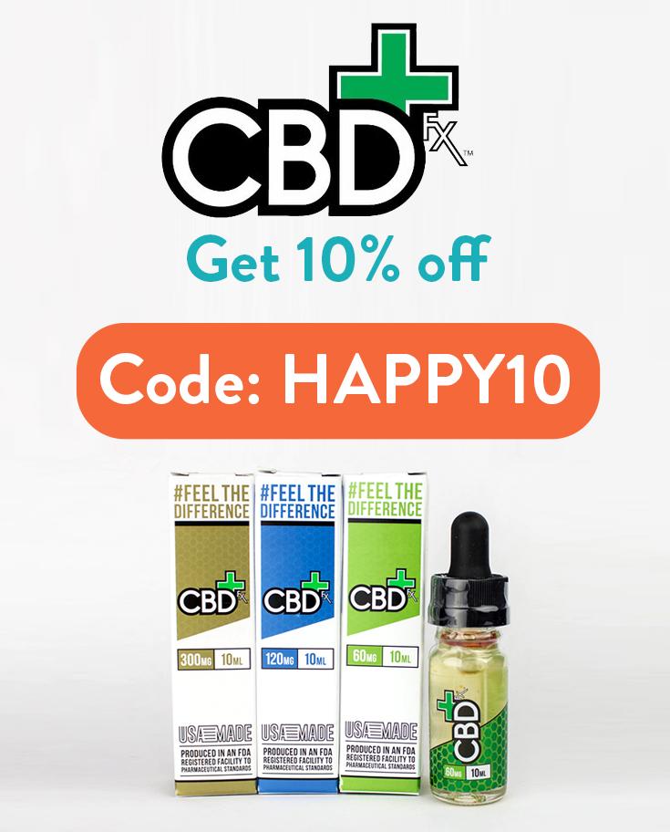 10% off CBDFx Coupon Code: HAPPY10